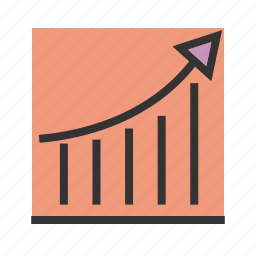 arrow, chart, economy, graph, growth, rise, rising icon