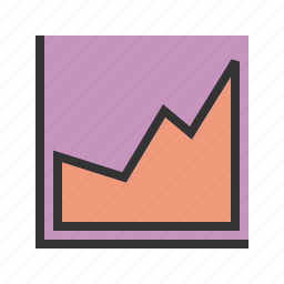 analyst, bar, business, company, growing, investment, report icon