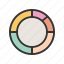 analysis, business, chart, donut, market, statistics