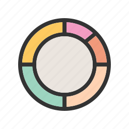 analysis, business, chart, donut, market, statistics icon