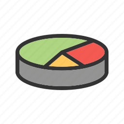 business, chart, circle, data, graph, number, pie icon
