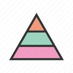 business, chart, diagram, graphic, growth, pyramid, triangle icon