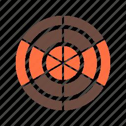 chart, graph, pie, presentation, radar, system icon