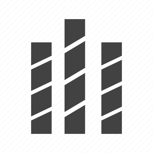 bar, business, chart, graph, graphic, striped icon