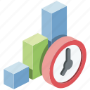 diagram, graphic, growth, infographic, schedule, time, watch icon