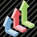 analysis, data, diagram, financial, growth, presentation, arrow
