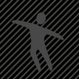 dance, fitness, gym, gymnastic, motion, wellness, yoga icon