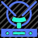 antena, digital, icon, it, set, technology, television, tv icon