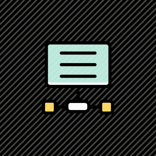 data server, information, internet, network, service, system, technology icon