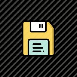 computer, data, floppy disk, old, retro, storage, technology icon