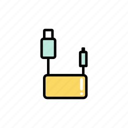 computer, connection, device, equipment, port, technology, usb hub icon
