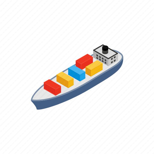 container, export, isometric, ocean, sea, shipping, transport icon