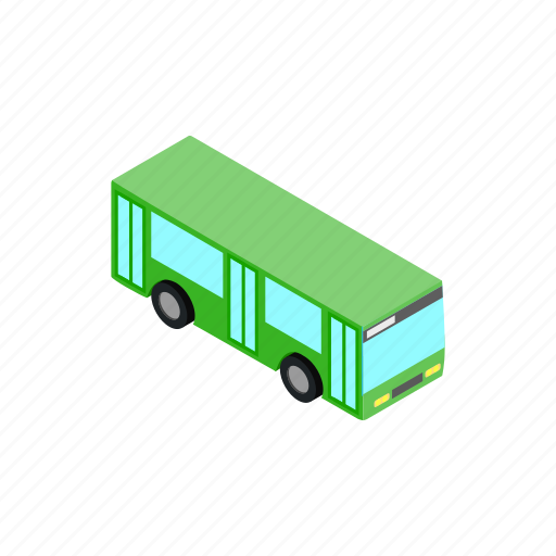bus, car, isometric, transport, transportation, travel, vehicle icon