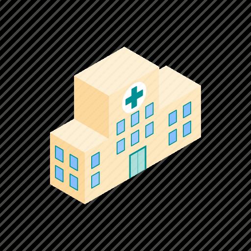 building, healthcare, hospital, isometric, medical, medicine, service icon