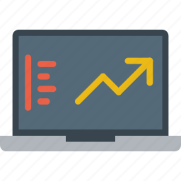 analytics, graph, information icon