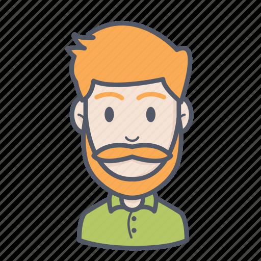beard man, man, men icon