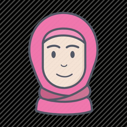 girl, hijab, lady, woman icon