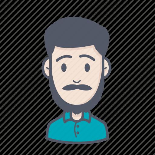 beard, boy, male, man icon