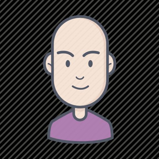 bald, male, man icon