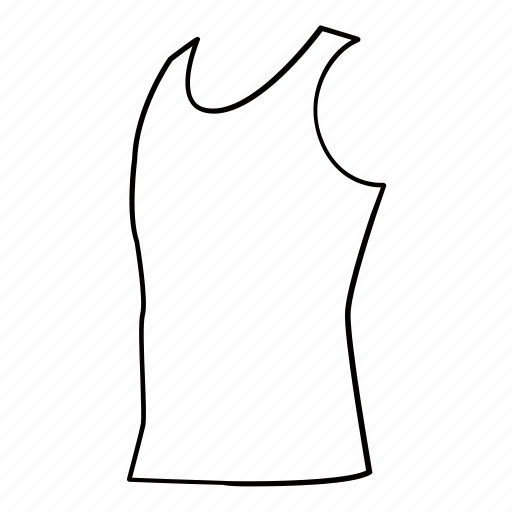 clothes, clothing, men, singlet, sleeveless, tank top icon