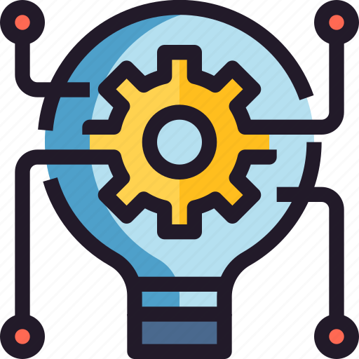 creative, creativity, idea, innovation, process icon
