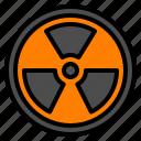 atom, biohazard, danger, radiation, toxic icon