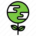 conservative, earth, plant, sprout, tree icon