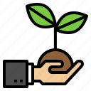 ecology, hand, nature, plant, sprout icon