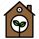 building, conservation, ecology, home, house icon