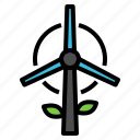 ecology, energy, turbine, wind, windmill icon
