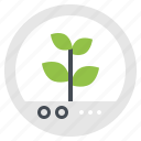 capsule, conservation, innovation, plant, sprout icon