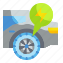 car, electric, innovative, tires, vehicles icon