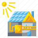 electric, house, innovative, power, technoloy icon