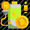 battery, energy, idea, money, technology