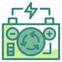 energy, innovative, power, recycling, technoloy icon
