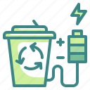 bin, electric, recycle, technoloy, waste icon