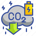 carbon, energy, innovative, low, technology icon