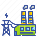 electric, innovative, plant, power, technoloy icon