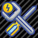 construction, maintenance, repair, screwdriver, tools icon