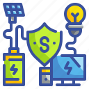 energy, innovative, prevent, security, technoloy icon
