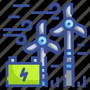 ecology, energy, environment, innovative, wind icon