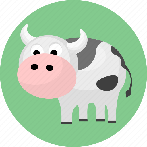 animal, animals, cow, mike icon
