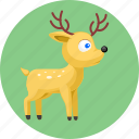 animal, animals, deer icon