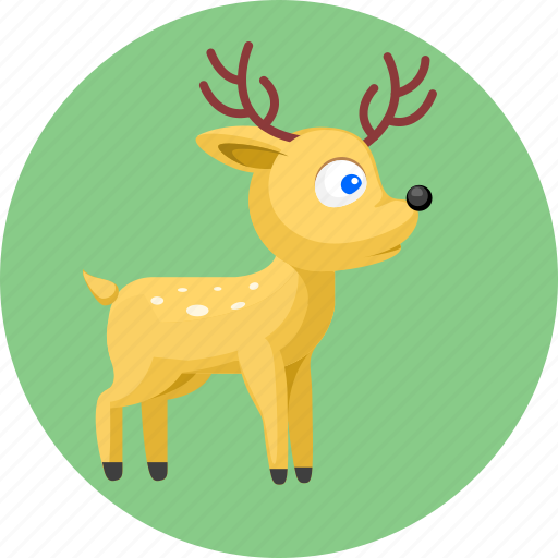 animal, animals, deer icon