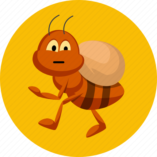 ant, insect, insert icon