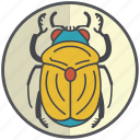 bug, golden, insect, scarab icon