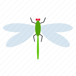 dragonfly, fly, insect icon