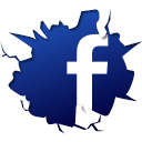 break, crack, facebook, fb, social, social media, sosyal, sosyal medya icon