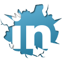 inside, linkedin icon