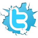 blue, cracked twitter, twitter icon